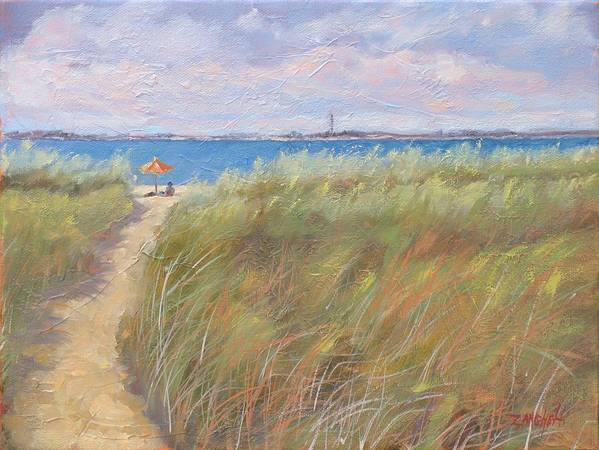 New England Art Print featuring the painting The Cape by Laura Lee Zanghetti