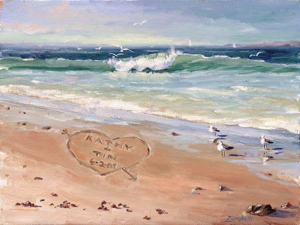 Seascape Art Print featuring the painting The Wedding Gift by Laura Lee Zanghetti