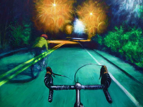 Bicycle Art Print featuring the painting Untitled by Chris Slaymaker