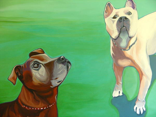 Art Print featuring the painting Zoe And Zeek by Carol Meckling