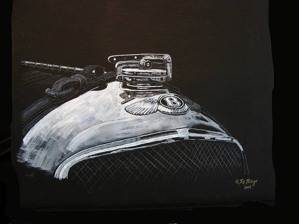 Bentley Art Print featuring the painting 1928 Bentley Rad Cap by Richard Le Page