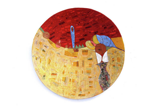 Painted Bowls Art Print featuring the painting Follow Me by Ronex Ahimbisibwe