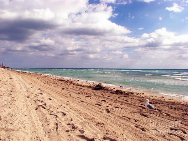 Beaches Art Print featuring the photograph Miami Beach by Amanda Barcon