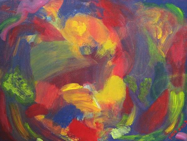 Abstract Art Print featuring the painting On The Verge by Patricia Ortman
