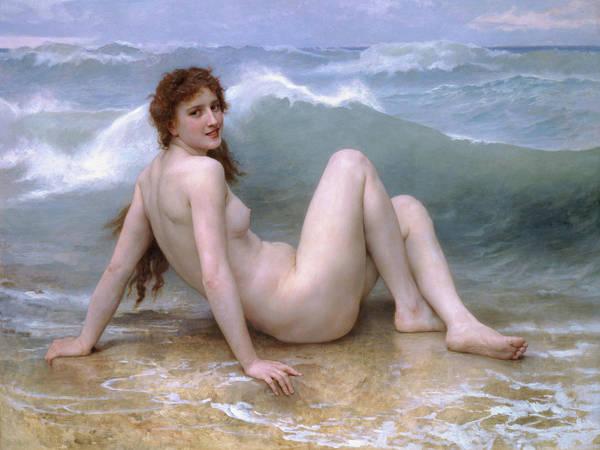 William-adolphe Bouguereau Art Print featuring the painting The Wave by William-Adolphe Bouguereau