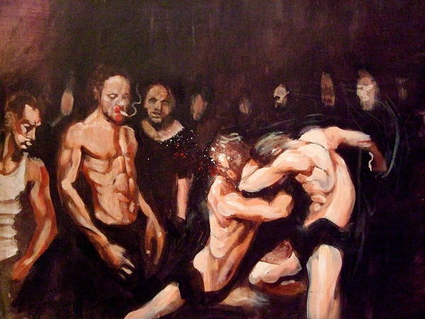 Fight Art Print featuring the painting Untitled by Chris Slaymaker