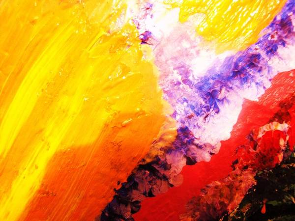 Art Art Print featuring the painting WOW by HollyWood Creation By linda zanini