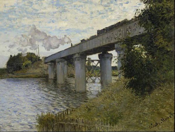 VAN GOGH PRINT Highway Bridge Argenteuil 16X20 POSTER