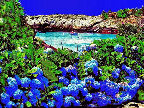Landscape Art Print featuring the photograph 75h Ocean Flowers by Ed Immar