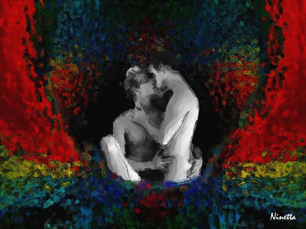 Men Art Print featuring the digital art A Bath Of Colors by Andrea N Hernandez
