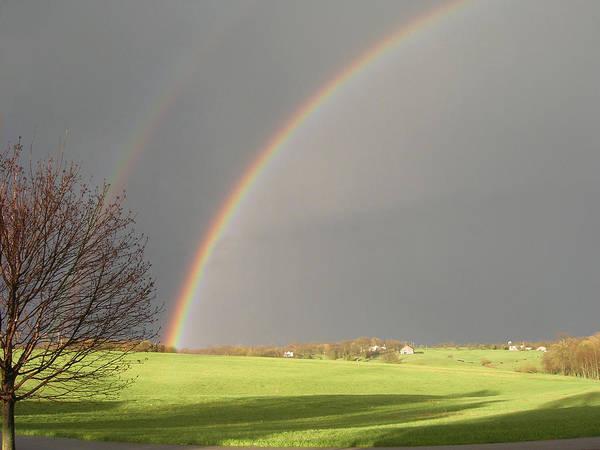 Landscape Art Print featuring the photograph A Double Rainbow by Martie DAndrea
