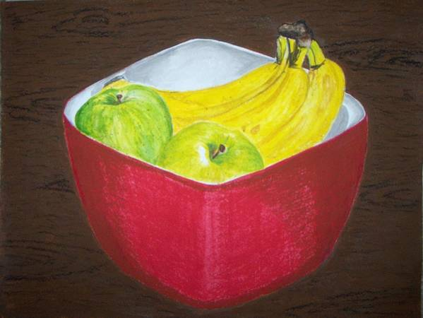 Fruits Art Print featuring the painting A Fruit A Day by Sanchia Fernandes