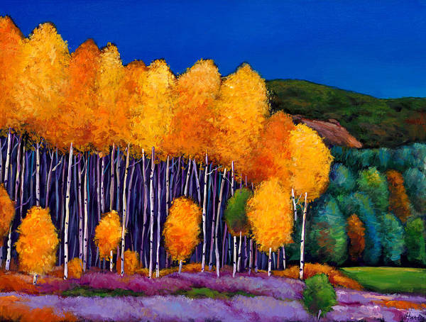 Aspen Print featuring the painting A Moment In Time by Johnathan Harris