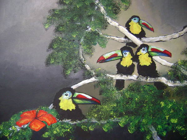 Birds Art Print featuring the painting A New Day by Laura Johnson