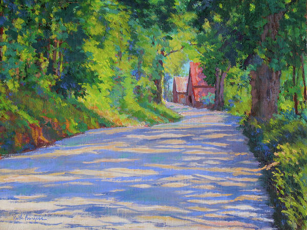Landscape Art Print featuring the painting A Summer Road by Keith Burgess