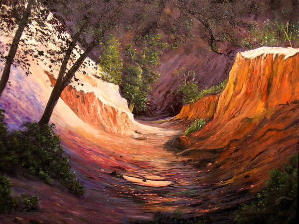 A Painting A Day Art Print featuring the painting A Walk Through The Canyon by Connie Tom
