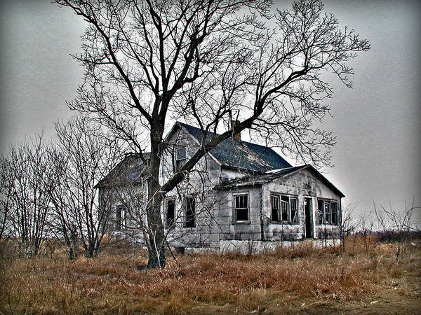 Old House Art Print featuring the photograph Abandoned Farmhouse by Laurie With