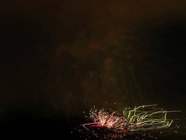 Fireworks Art Print featuring the photograph Abstarct Art Seven by Kenneth Summers