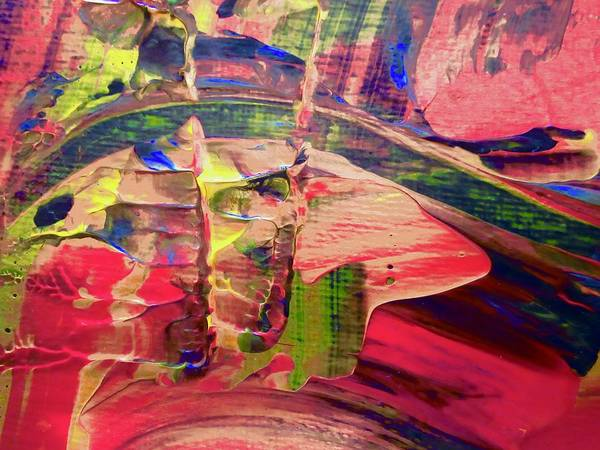 Red Art Print featuring the painting Abstract 9096 by Stephanie Moore