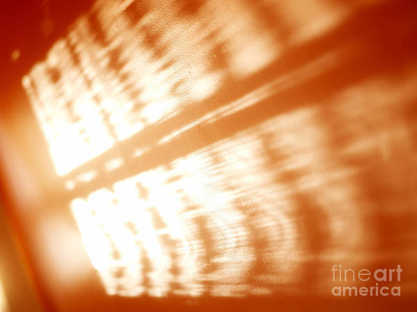 Abstract Art Print featuring the photograph Abstract Light Rays by Tony Cordoza