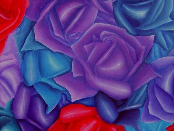 Flower Art Print featuring the painting Abundance by Brandon Sharp