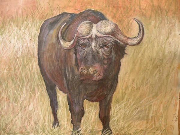 Africa Art Print featuring the painting African Sighting by Wendy Hill