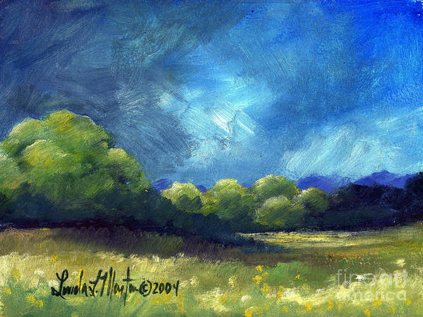 Oil Painting Art Print featuring the painting After The Storm by Linda L Martin