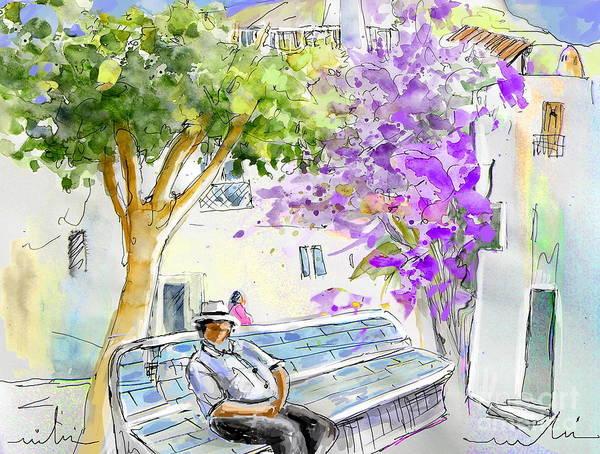 Almeria Art Print featuring the painting Agua Amarga 11 by Miki De Goodaboom
