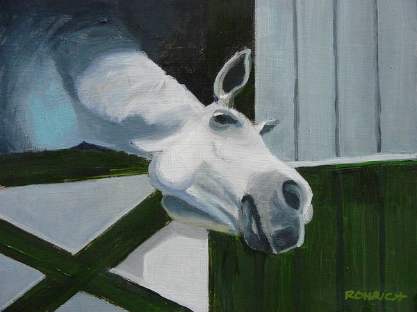Horse Art Print featuring the painting Ah Common A Little More by Robert Rohrich