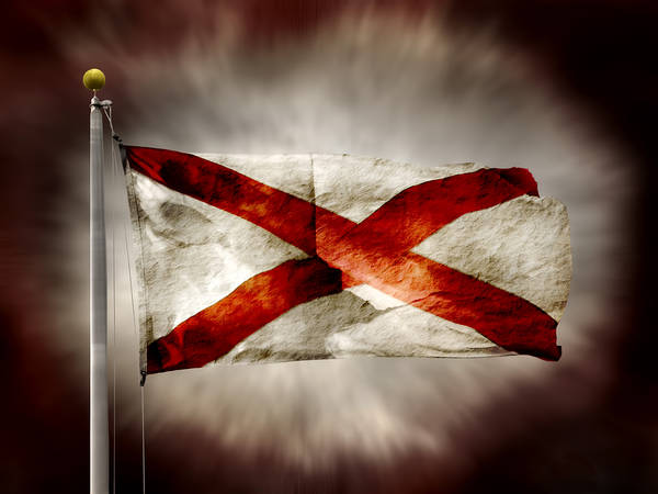 Alabama State Flag Art Print featuring the photograph Alabama State Flag by Steven Michael