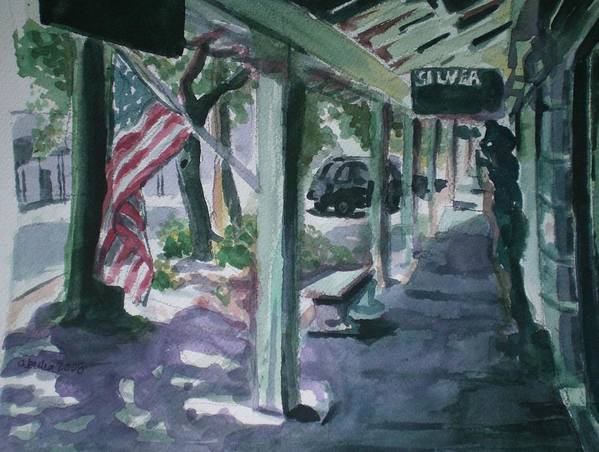 American Flag Art Print featuring the painting American Flag by Aleksandra Buha