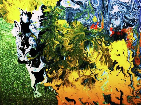 Abstract Art Print featuring the painting ..anguish.. by Adolfo hector Penas alvarado