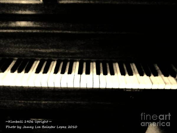 Piano Photograph Art Print featuring the photograph Annabelle by Jamey Balester