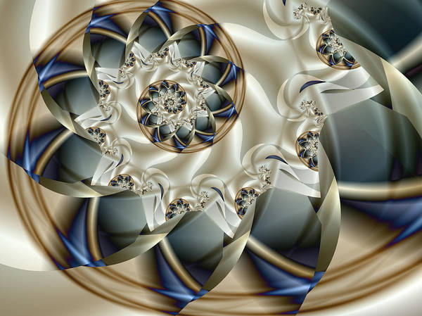 Fractal Art Print featuring the digital art Anniversary by Vicky Brago-Mitchell