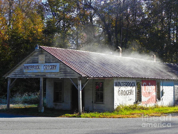 Architect Art Print featuring the photograph Antique Grocery Store by Mary Swann