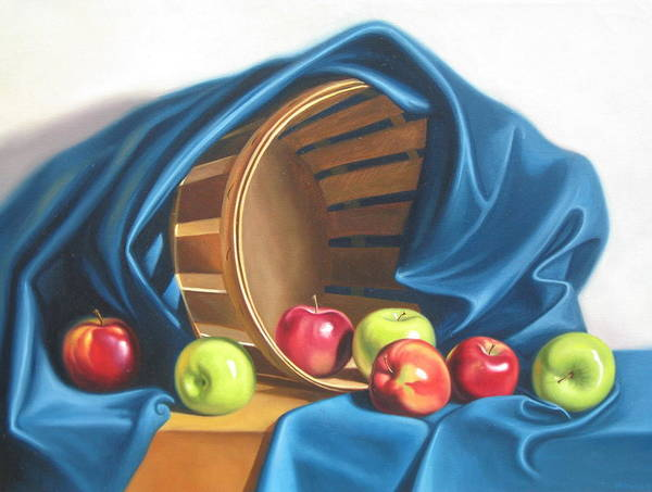 Still Life Art Print featuring the painting Apple Basket by Arnold Hurley