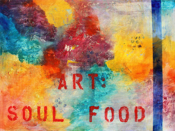 Abstract Painting With Words Art Print featuring the painting Art Soul Food 2 by Jgyoungmd Aka John G Young MD