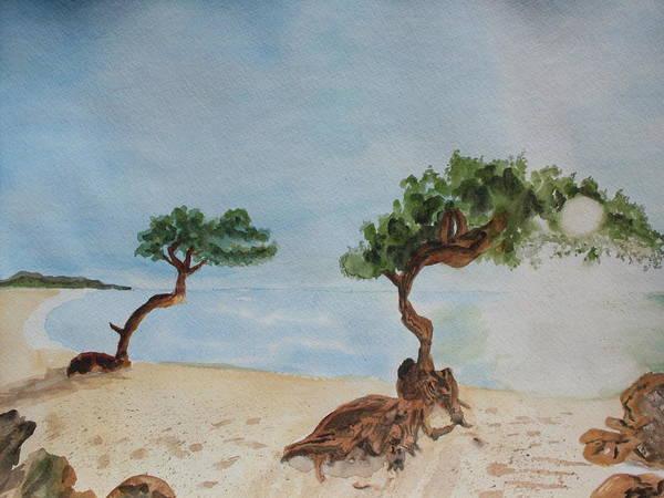 Aruba Art Print featuring the painting Aruba Sunrise by Warren Thompson