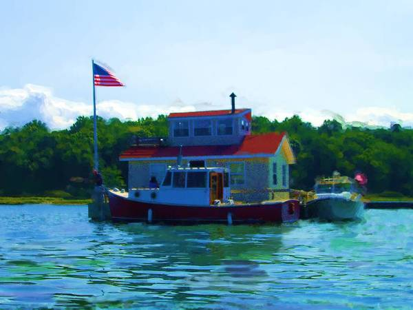 Our Bronx New York City House Boat Art Print featuring the painting As Seen On National American Express Tv Commerica by Jonathan Galente
