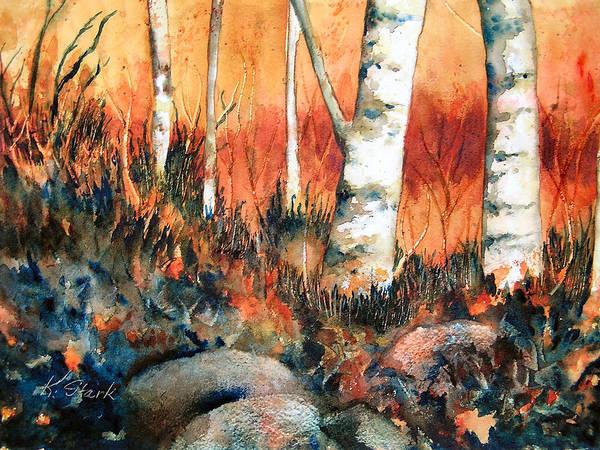 Landscape Art Print featuring the painting Autumn by Karen Stark