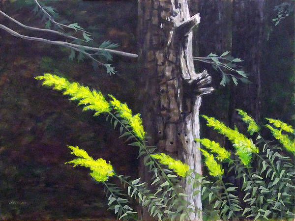 Landscape Art Print featuring the painting Autumn Rods by Leo McRee