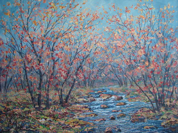 Landscape Art Print featuring the painting Autumn Serenity by Leonard Holland
