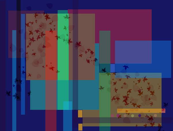 Autumn Art Print featuring the digital art Autumn Wind by Helene Champaloux-Saraswati