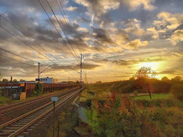 Sunset Art Print featuring the photograph Autumn's Sunset by Christian Sandberg