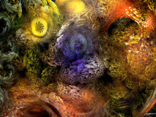 Abstract Art Print featuring the digital art Awakening by Casey Kotas