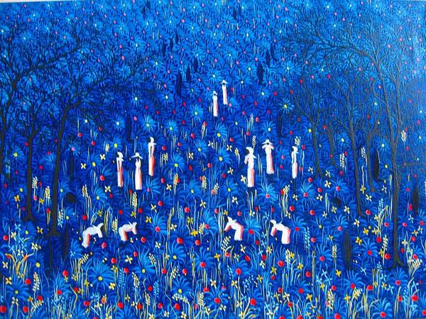 Art Print featuring the painting Azul by Frantz Petion