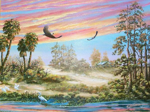 Landscape Art Print featuring the painting Back Forty Two by Dennis Vebert