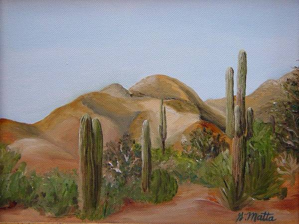 Landscape Art Print featuring the painting Backdoor View by Gretchen Matta