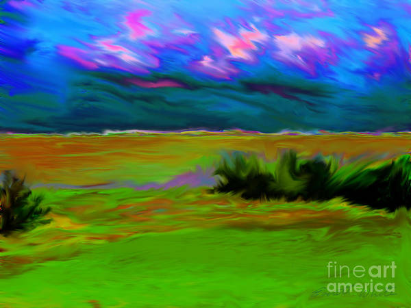 Landscape Art Print featuring the painting Backyard Sky by Everett White