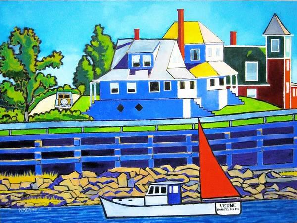 Maine Art Print featuring the painting Bailey's Island by Nicholas Martori